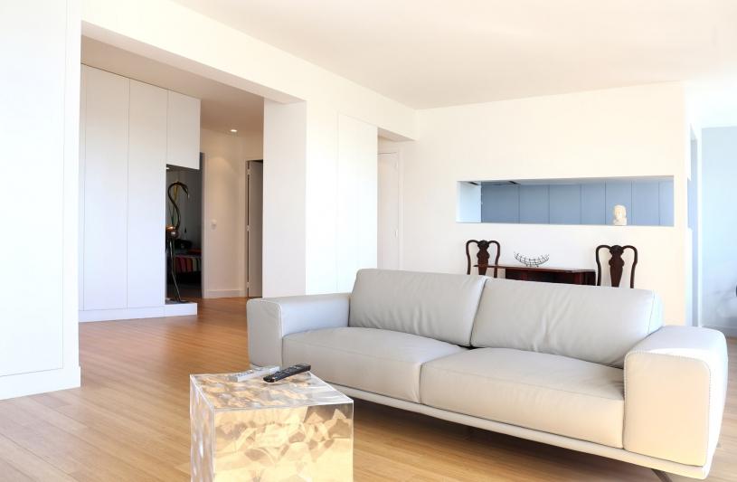 DX ARCHITECTURES, Pierre Degageux, appartement, réhabilitation, rénovation, parquet, double vitrage