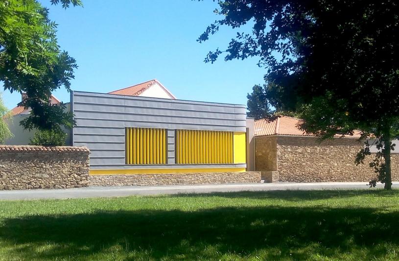 SL20 ARCHITECTURE - Centre de Loisirs - Saint-Denis-la-Chevasse - Projet vue depuis la rue de la Claie