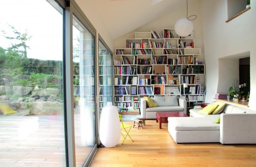 Salon dans extension - B.HOUSSAIS Architecture