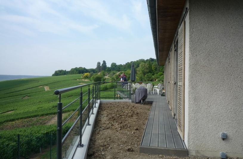 balcon sur les vignes