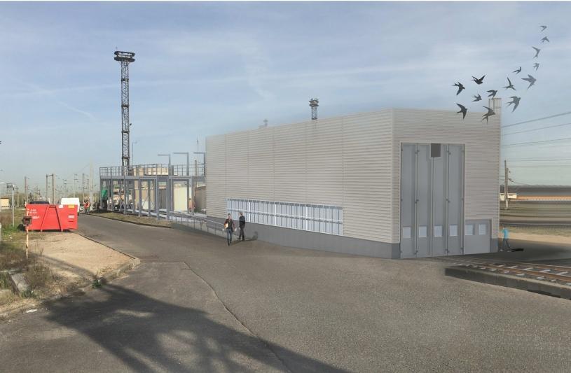 Exemple d'insertion - Dépôt de Permis de Construire site de Triage Projet Nil, Le Bourget par SLA Architecture