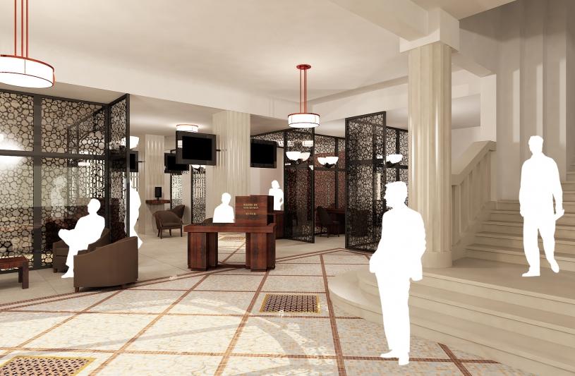 Aménagement hôtel de ville de Vincennes - Perspective de l'accueil