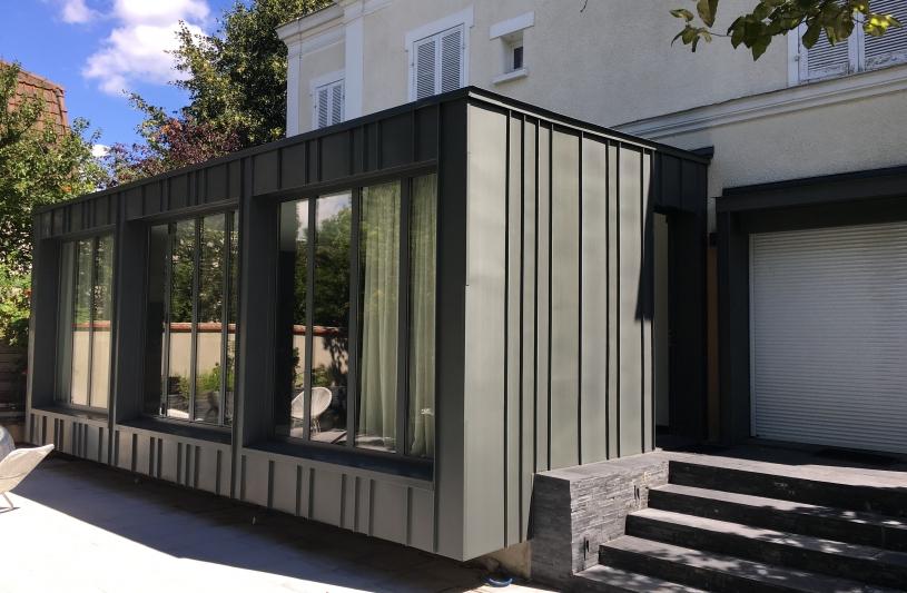 Extension de pavillon - vue jardin