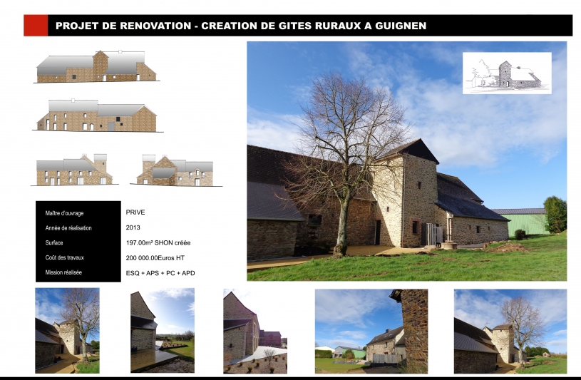 Rénovation - Création de gites ruraux