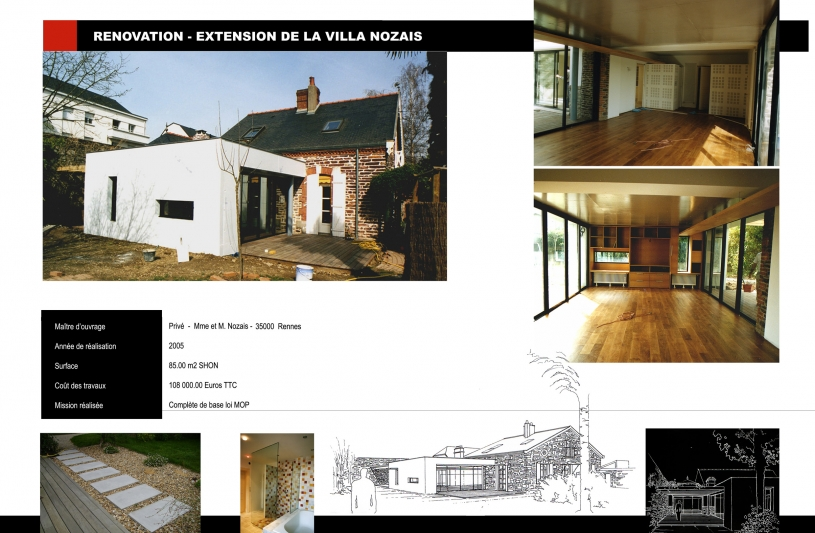 Rénovation et extension d'une maison d'habitation
