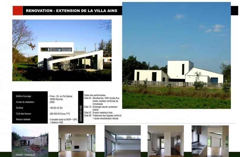 Extension rénovation