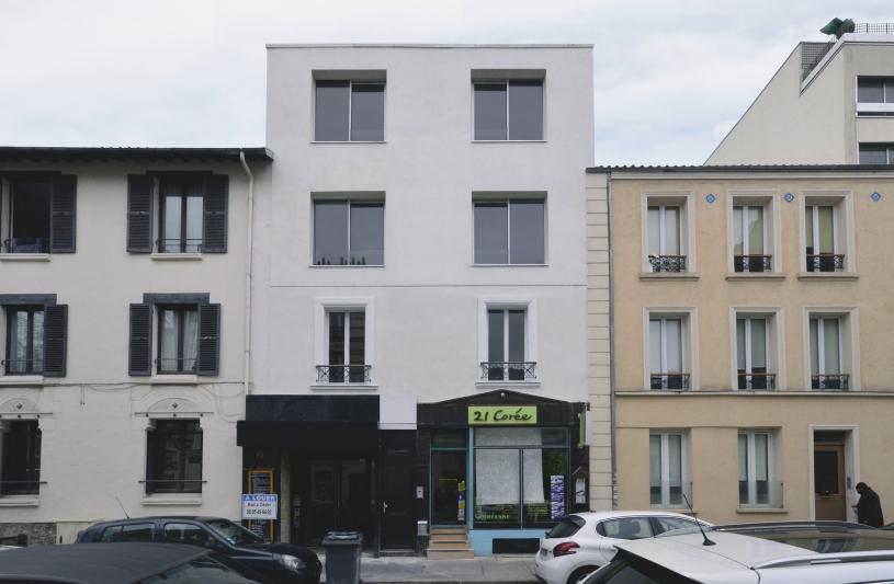 Façade sur la rue Carnot