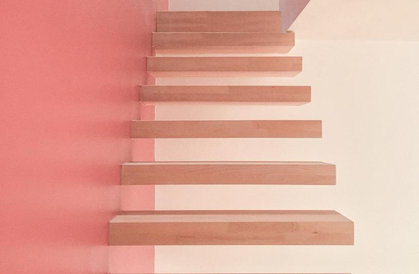 Vue de l'escalier flottante