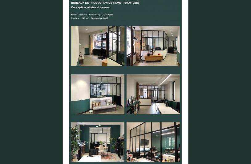 Conception, études et travaux pour l'aménagement de bureaux