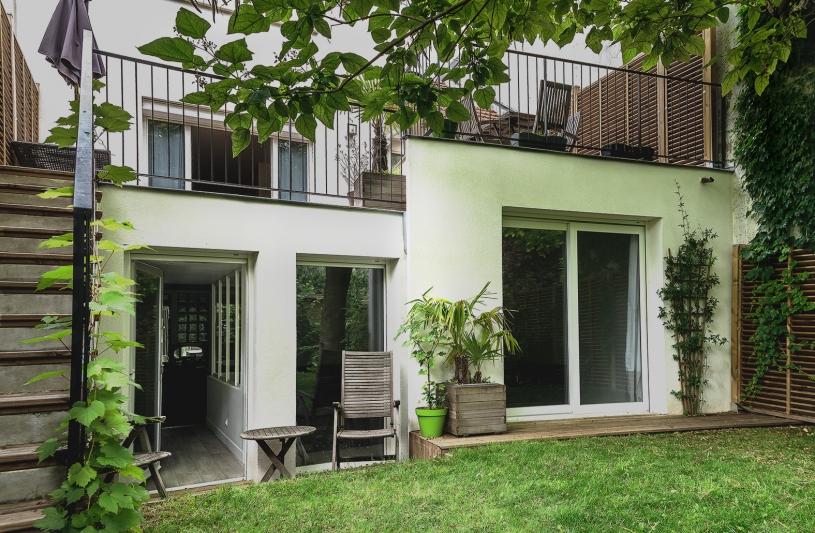 extension, architecture, bois, paris, banlieue, piscine, spa, jardin