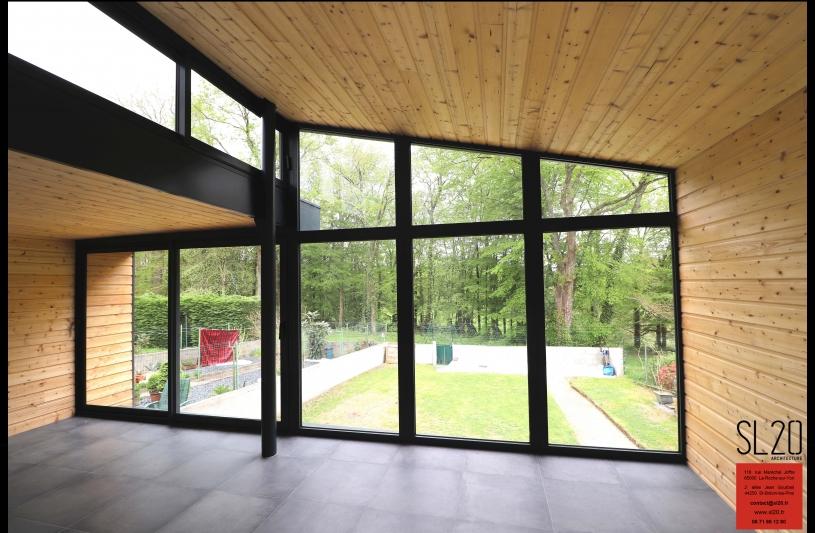 SL20 - Extension verre bois - La Roche sur Yon intérieur