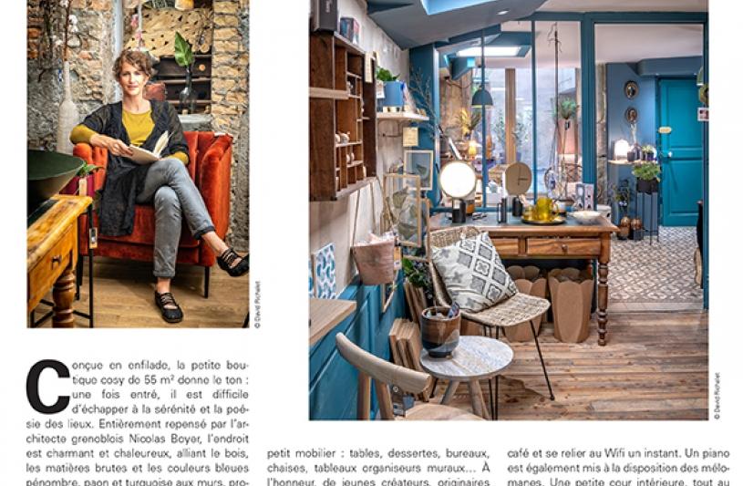 Rénovation et aménagement intérieur du magasin L'Humeur Vagabonde. Nicolas Boyer architecte