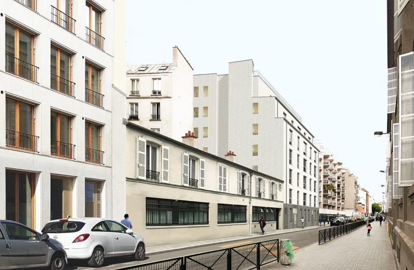 23 LOGEMENTS SOCIAUX ET UNE PENSION DE FAMILLE: rue Pajol