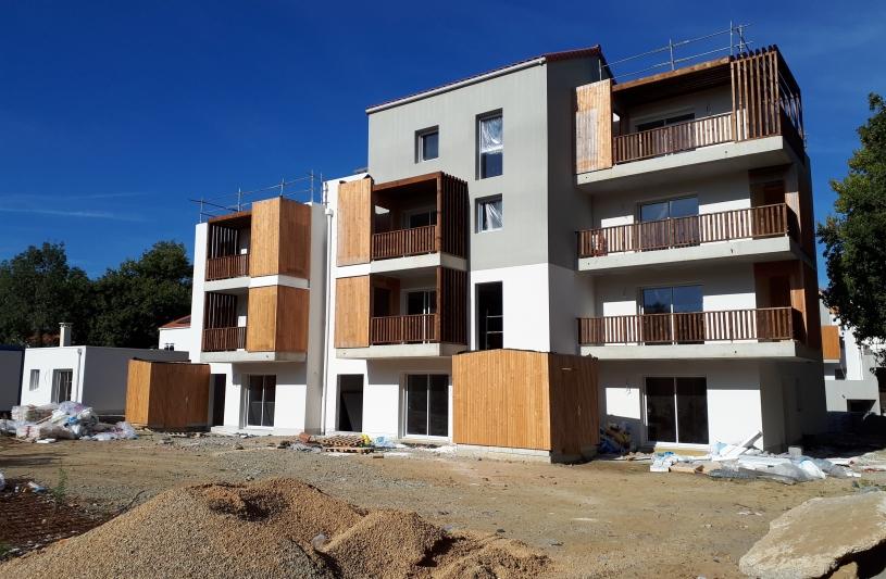 Vue du chantier en novembre 2018 - Bâtiment B