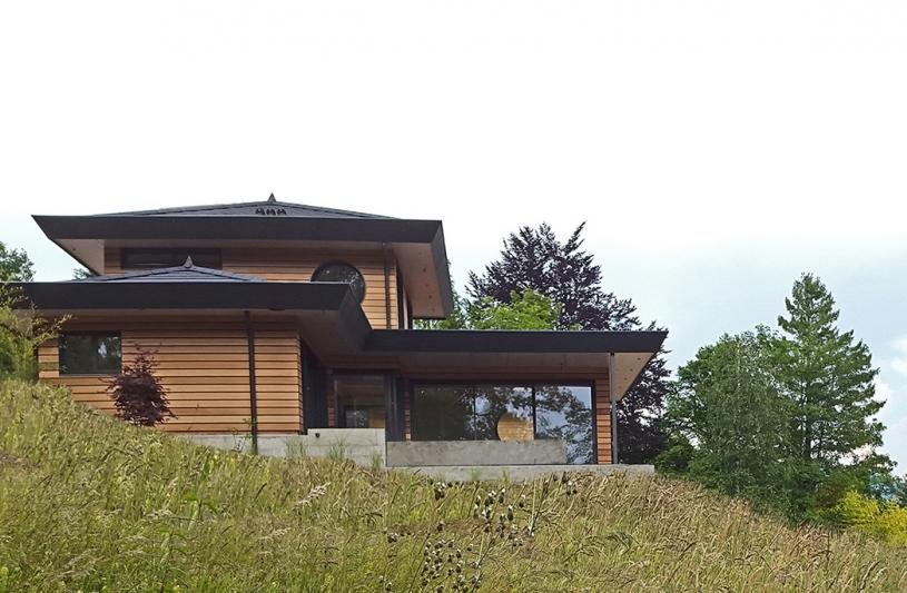 Villa bioclimatique à Argonay - Vue Ouest