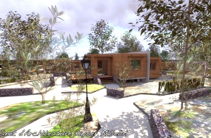 Architecture architecte dplg en corse ecologie bbc ossature bois solaire bio climatique - Maison bois en corse ...