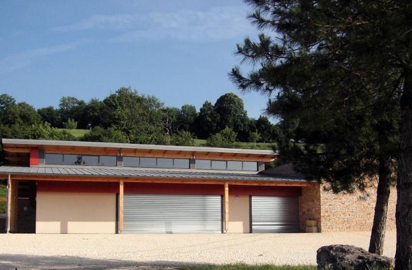 Salle des Fêtes de Fontain 25660 - Façade Sud
