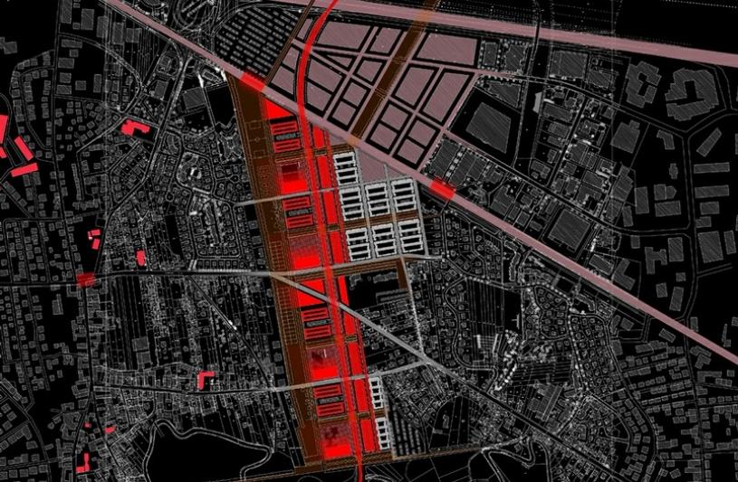 Intégration d'une nouvelle voie de contournement de Strasbourg et réorganisation des villages traversés.