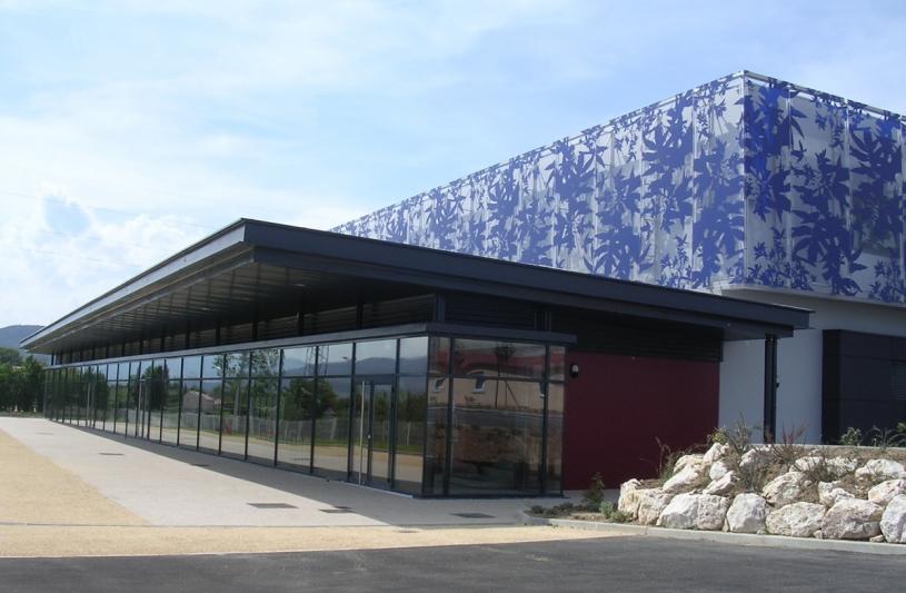 Façade Principale - Espace Montgolfier à Davézieux - Adhoc Architecture - Jean Michel Costaz