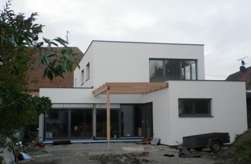 Birgit ferjantz cabinet d 39 architecte ordre des architectes for Maison toit plat alsace
