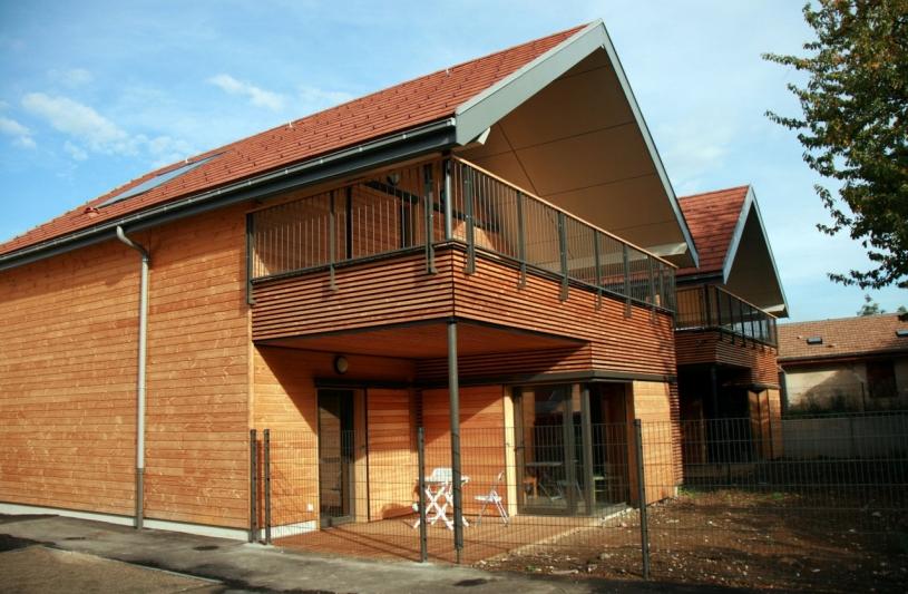 Villas - Façade Sud - Collège du Trièves à Mens  - Adhoc Architecture - Jean Michel Costaz