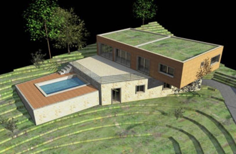 Architecture architecte dplg en corse ecologie bbc for Architecte maison bois contemporaine