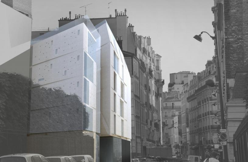 Construction immeuble de logements Paris 15