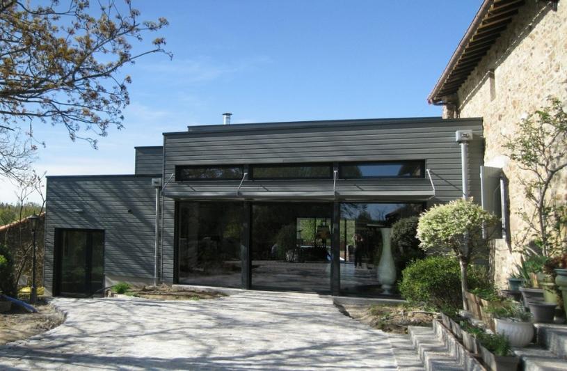 Maison d architectes maison d maison angers 6 pices for Extension maison 79