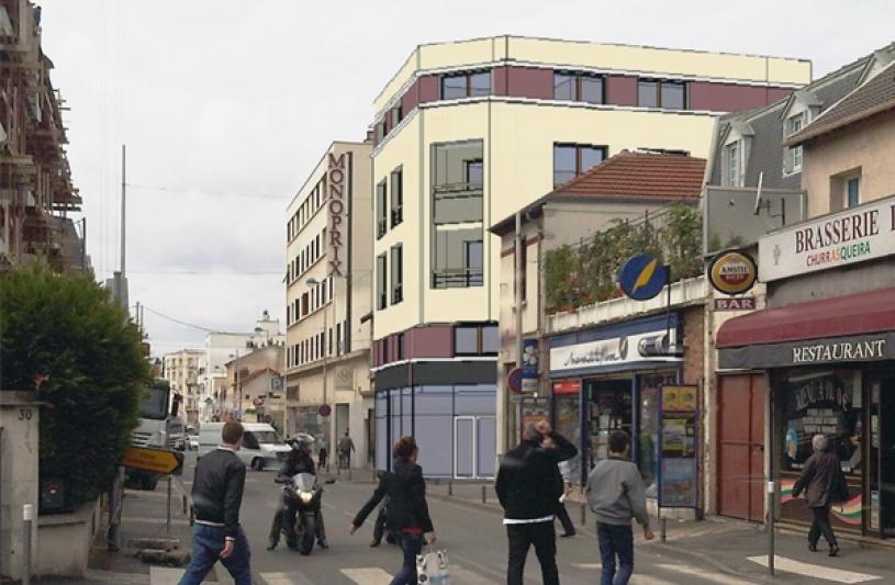 Vue depuis la rue Henri Barbusse
