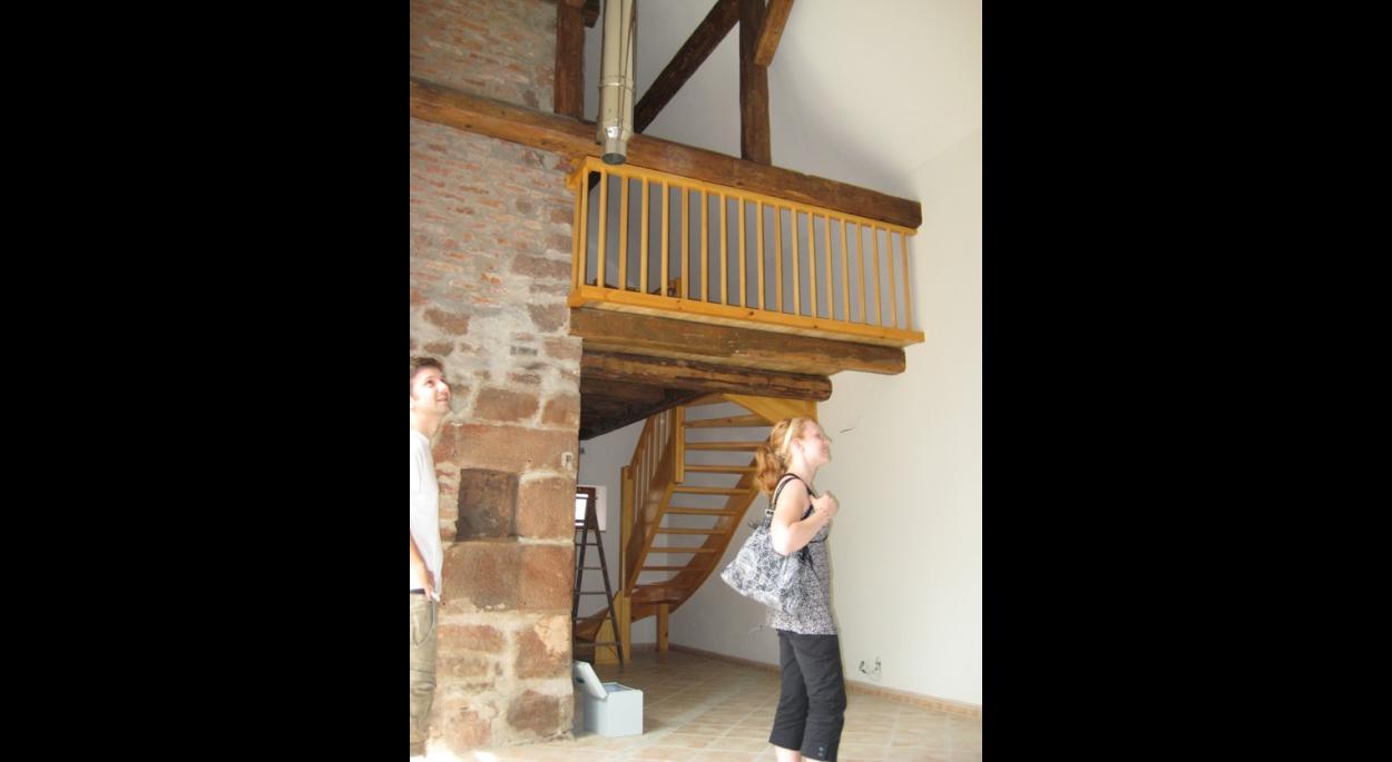 Le nouvel escalier en charpente