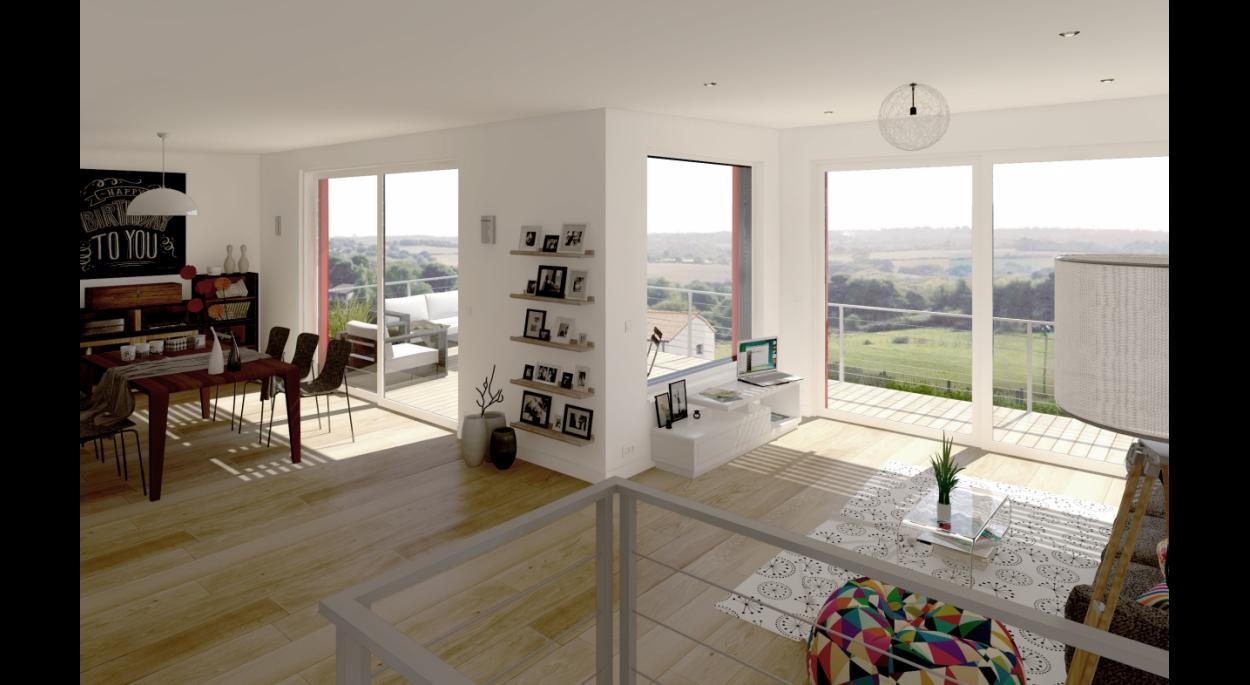 Maison passive - vue vers la terrasse