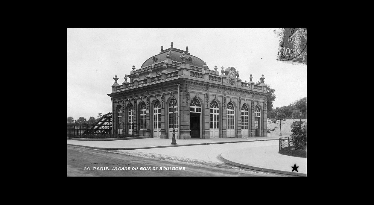 Gare du Bois de Boulogne en 1900
