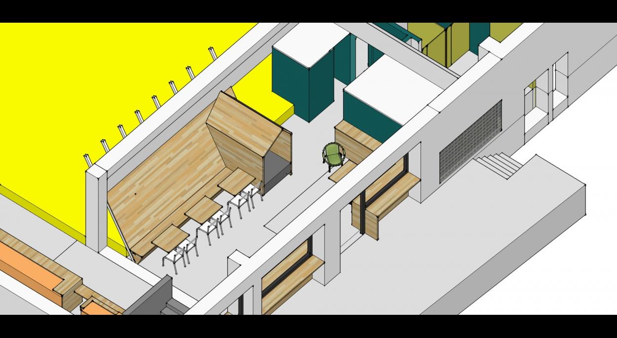 Proposition d'aménagement espace détente BLOCABRAC