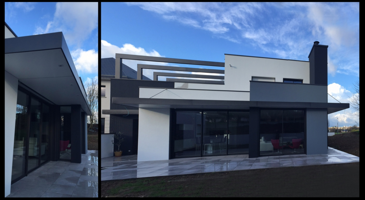 Diaporama de 1 2 vue architecte rennes lise roturier for Maison moderne rennes
