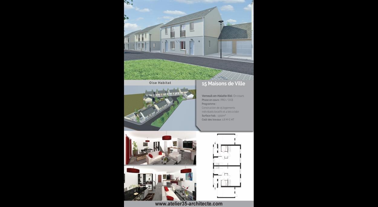 15 logements individuels locatifs