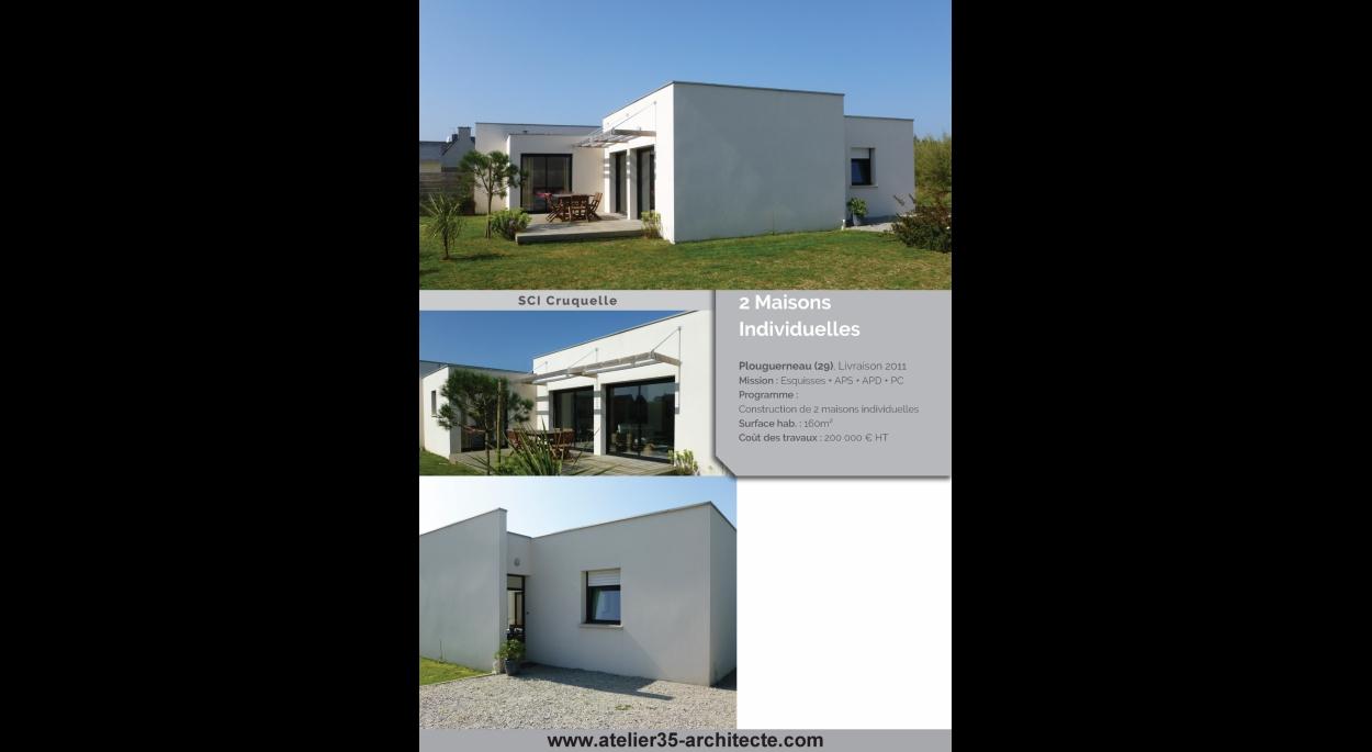 Projet de 2 maisons jumelles