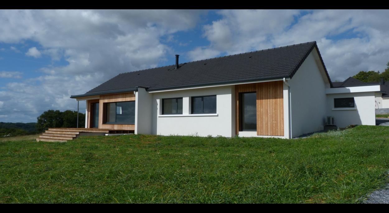 maison rt2012, bioclimatique, baradge bois, ossature bois, ouate de cellulose
