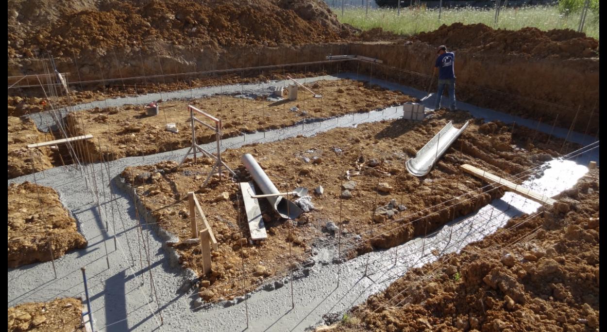 coulage  des fondations (semelles filantes)