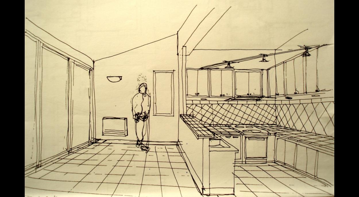 Perspective cuisine/salle à manger transformées.