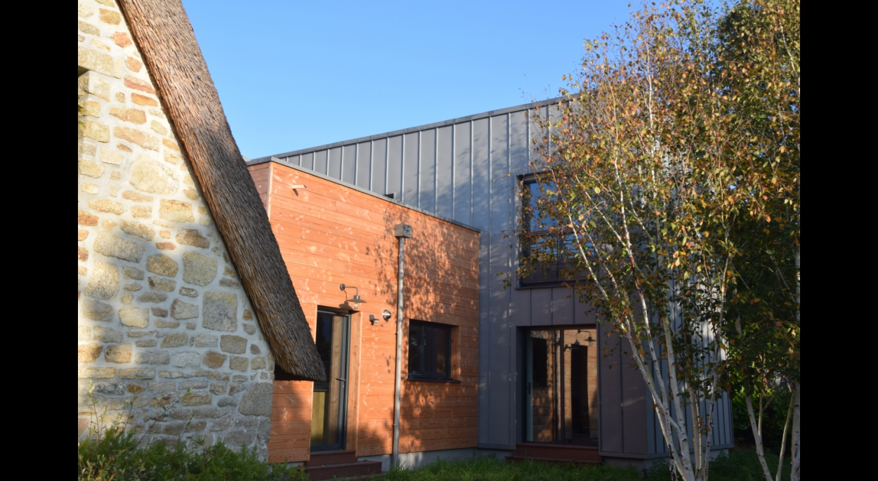 olivier samzun architecte, extension contemporaine d'une maison d'habitation