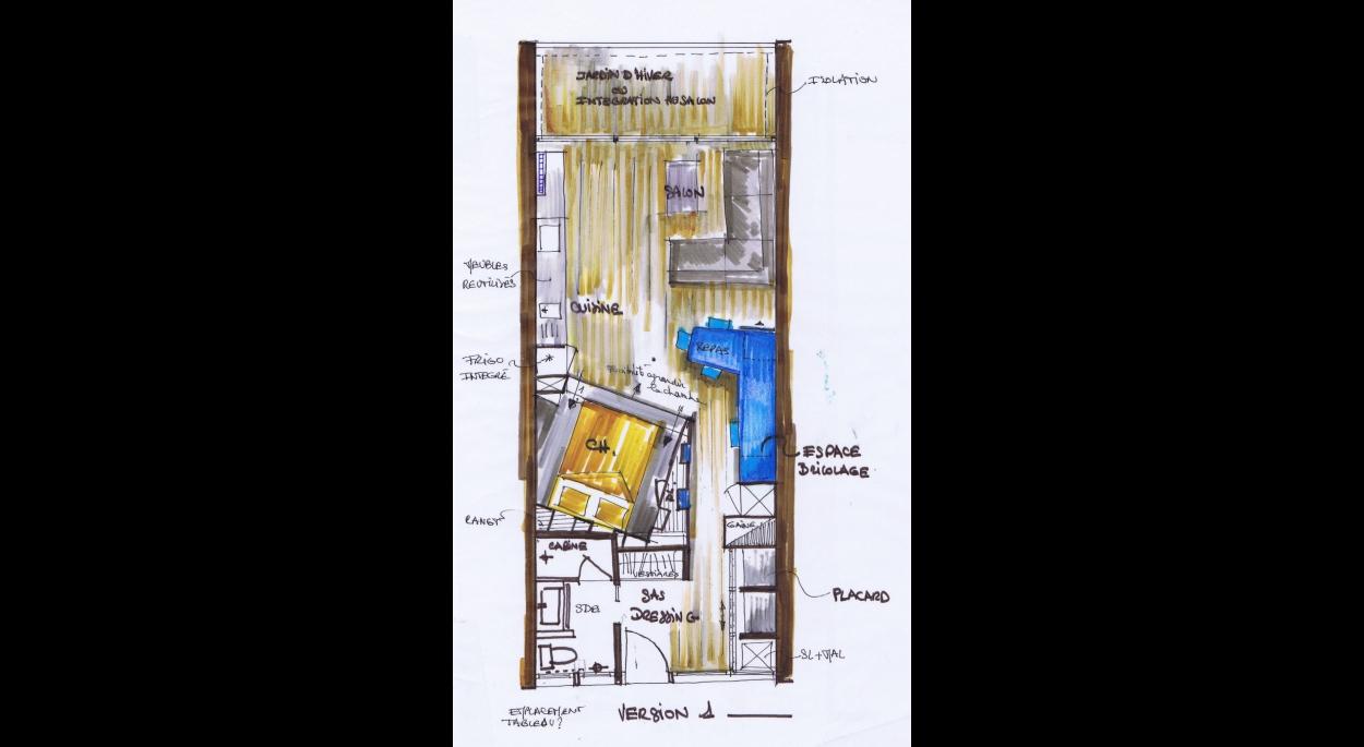 plan  esquisse conception feng shui