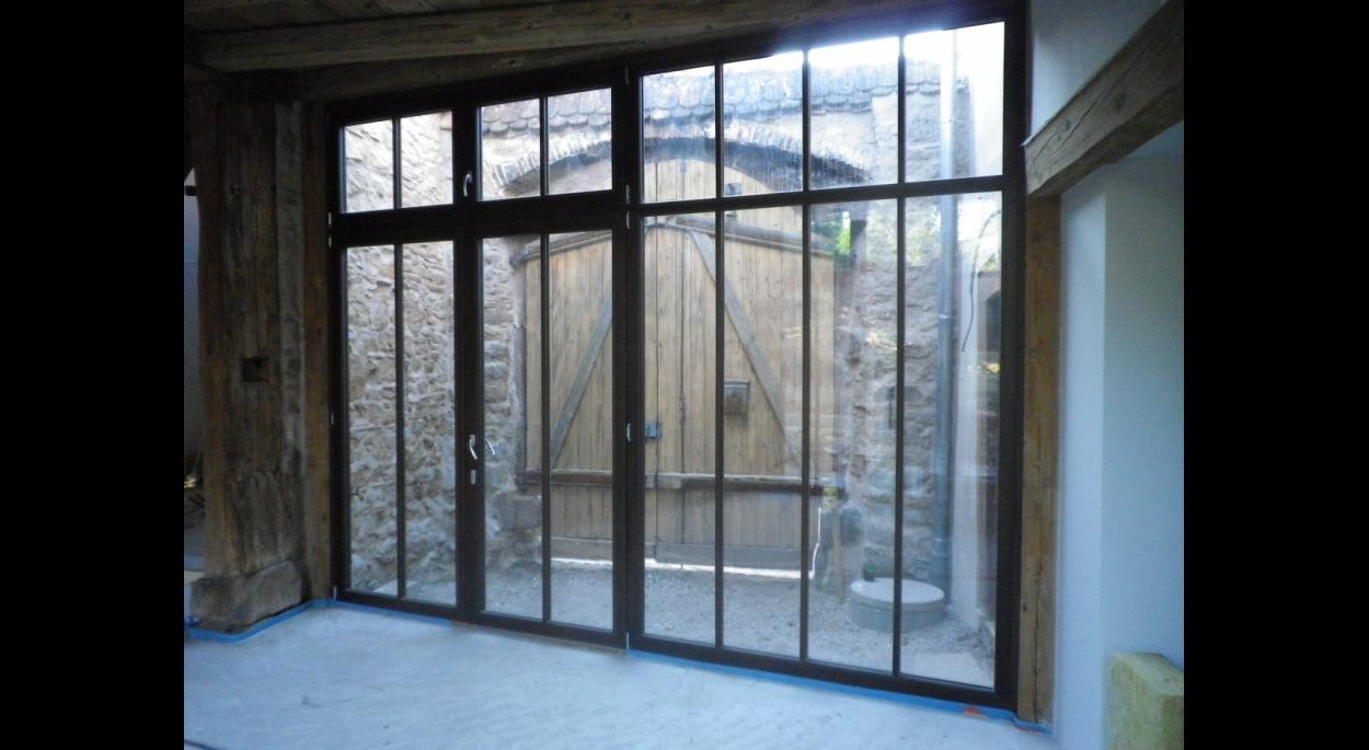 rénovation et restauration d'un corps de ferme en site classé avec extension véranda alsace bas-rhin