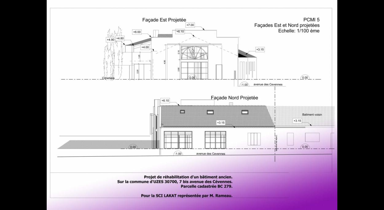 Réhabilitation de surface commerciale et aménagement de comble en logement.