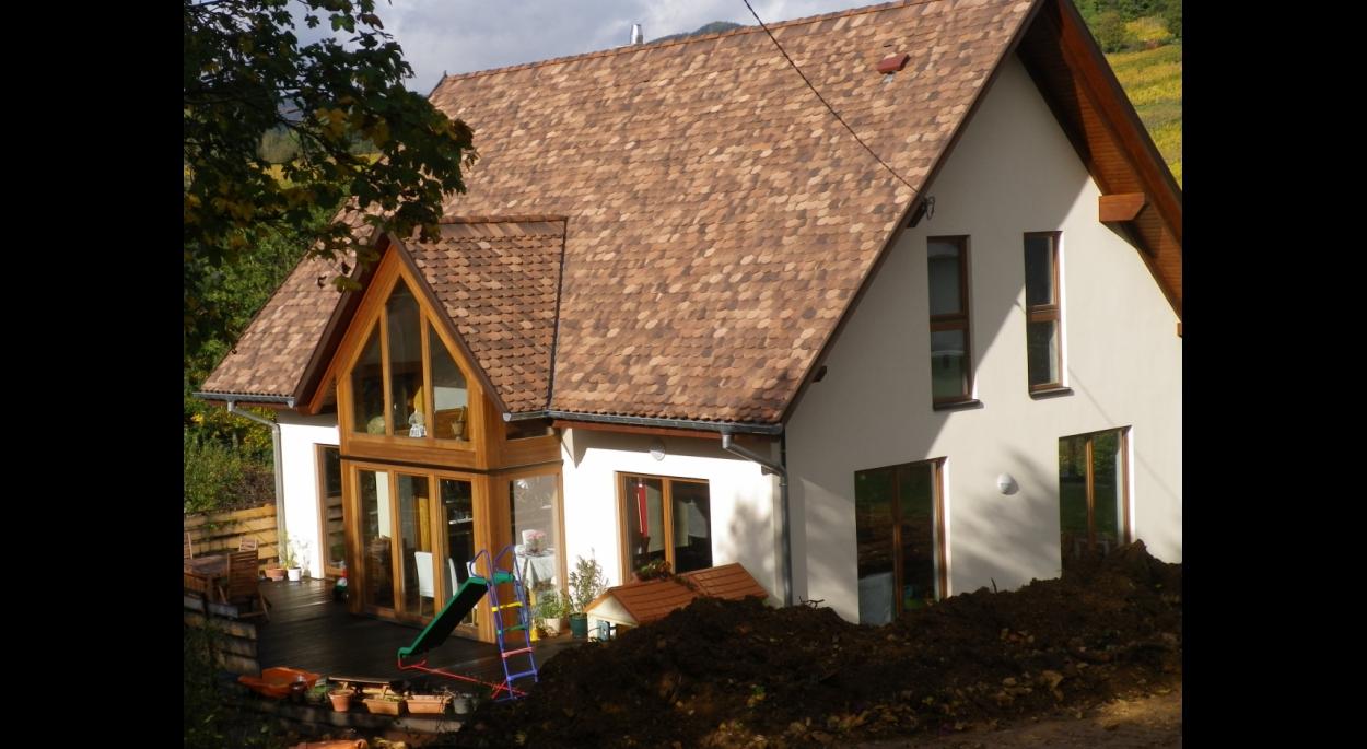 maison BBC site classé ossature bois bioclimatique alsace bas-rhin