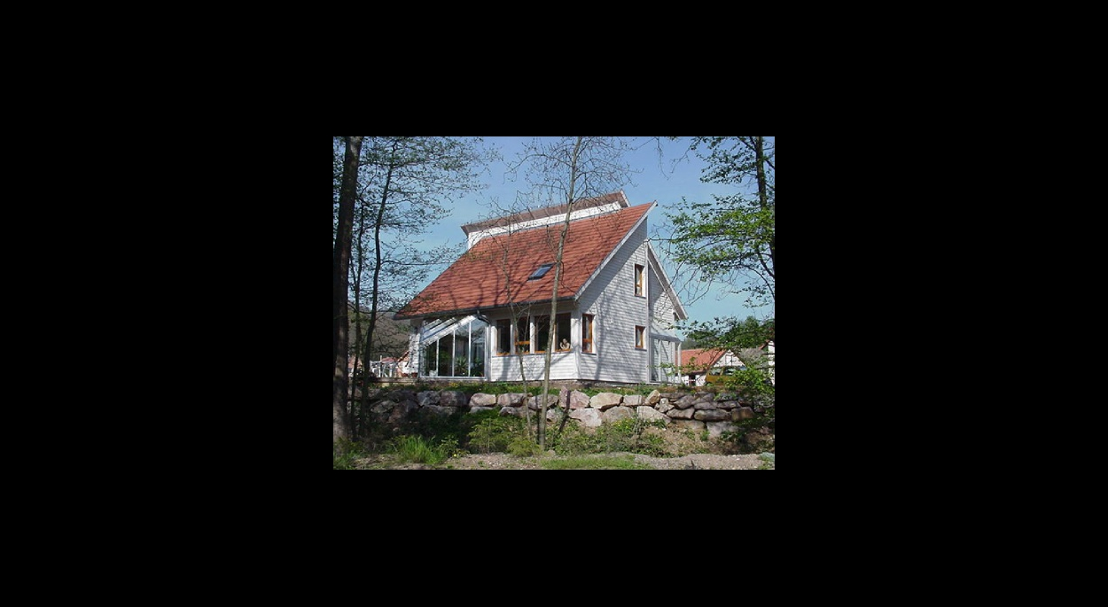 Maison ossature bois bardage bois alsace bas-rhin