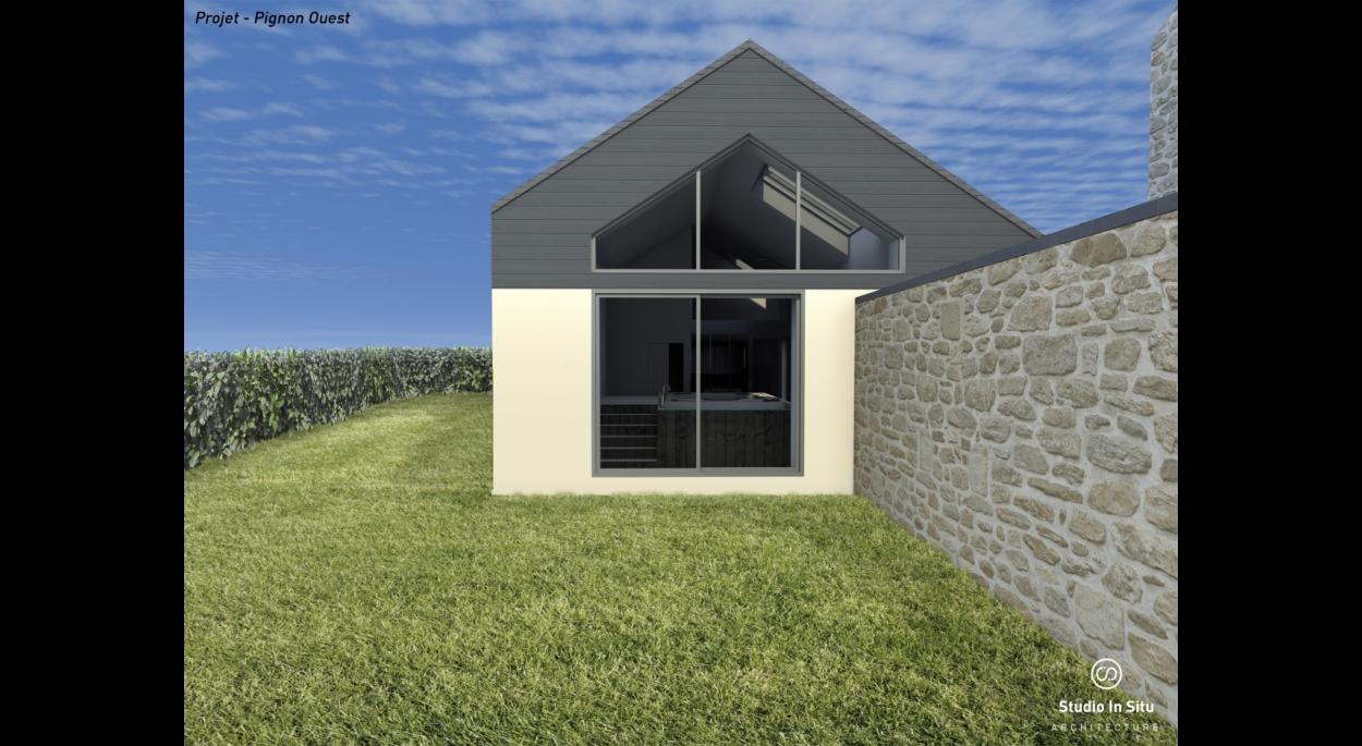 Insertion 3D du projet - Façade Ouest