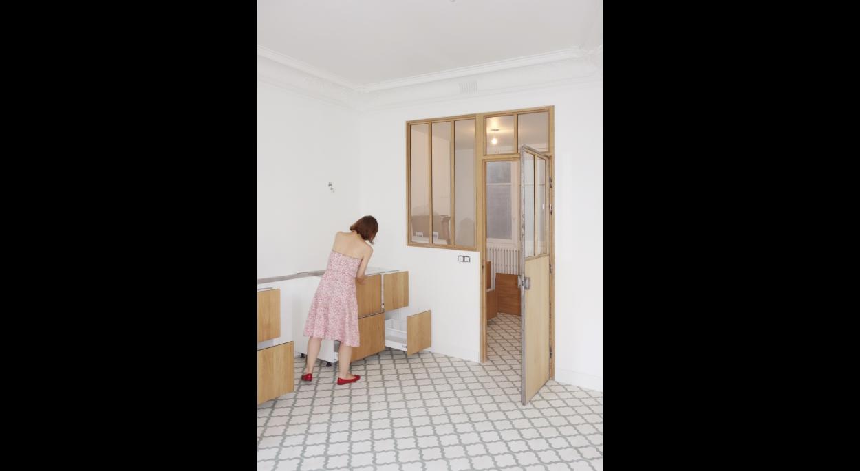 Création d'une verrière atelier intérieure