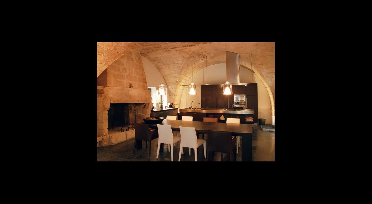 Rénovation à Uzès, vue intérieure