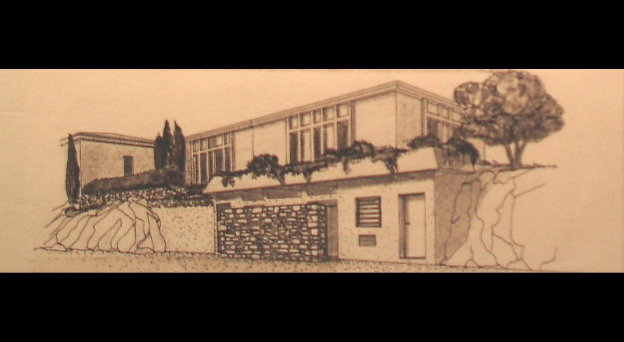 Perspective façade Sud projet