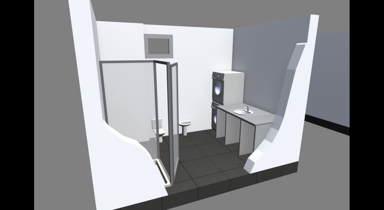 Axonométrie salle de bain - Réhabilitation ancien presbytère